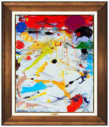 John Seery Original Acrylic Painting On Canvas Signed Modern Abstract Artwork