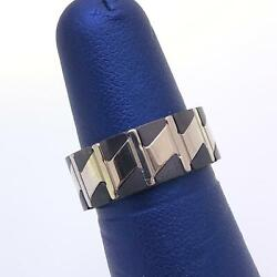 Neos Menand039s 2 Tone Sterling Silver 925 Stainless Steel Wedding Band Ring Size 7.5
