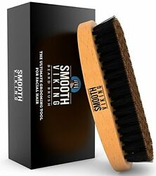 Beard Brush With Wild Boar Bristles For Easy Grooming Facial Care Hair Comb