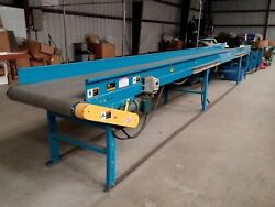 26 Ft. Long x 24 Inches Wide Hytrol Brand Belt Power Conveyor with Speed Control