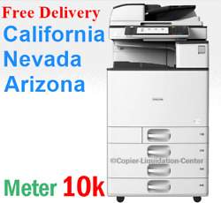 Ricoh Mpc3503 Mp C3503 Color Network Copier Print Fax Scan To Email. 35 Ppm Vre