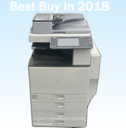 Ricoh Mpc3002 Mp C3002 Color Tabloid Copier With Finisher Print Speed 30 Ppm Mt