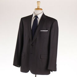 Recent 6400 Brioni 'colosseo' Dark Brown Stripe Wool Suit 44 R Classic-fit