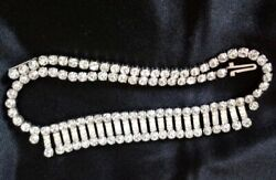 ESTATE ART DECO HIGH END RHINESTONE VINTAGE NECKLACE EXCELLENT CONDITION