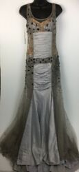 $249 Sherry Hunte Couture Stunning Beaded Sweet 16 Evening Silver Cute Gown 4 $45.99