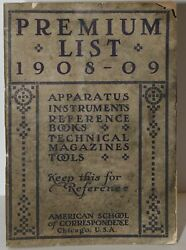 Premium List 1908-09 Apparatus Instruments Reference Books Technical 278513