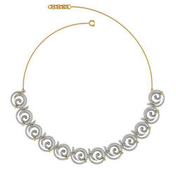 Natural Diamond Pave Designer Necklace 18k Yellow Gold Valentine Jewelry Gifts