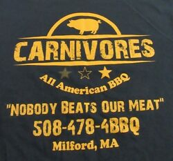 Carnivores All American Bbq Nobody Beats Our Meatblack Ss T Shirt Size M
