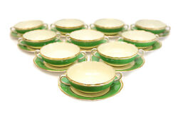 10 Copeland Spode For And Co. Bouillon Bowls And Underplates Circa 1900