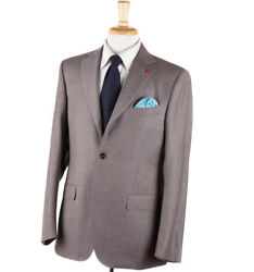 Nwt 3895 Isaia Dove Gray-beige Soft-brushed Flannel Wool Suit 40 R Eu 50