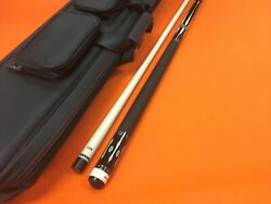 Longoni Pool Cue Shiny Star Leather Wrap And Top Notch Case.