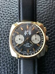 RARE BREITLING TOP TIME INDY 500 MANUAL WIND SWISS MADE WATCH  REVERSE PANDA 71'