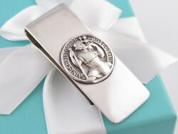 And Co Saint Christopher Money Clip Holder Rare Box Included