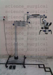 INCLINABLE Dental Microscope 5 Step with Led Light Source,Beam Splitter , Came
