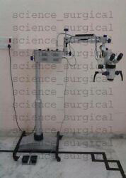 INCLINABLE Dental Microscope 5 StepBeam SplitterPAL CCD CameraWith Led Source