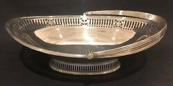 Rare Large Antique Sterling Silver Basket Made By William Hutton And Sons