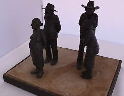 K. Irwin Large Bronze Sculpture Of 4 Native American Figures Limited Edition