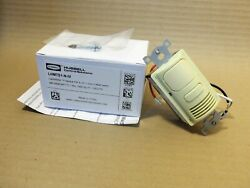 New In Box Hubbell Lhmts1-n-iv Neutral Pir And Us 1-circuit Wall Switch Ivory