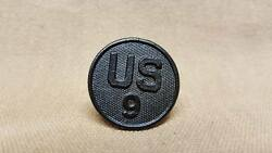 Wwi Us 9th Regiment Collar Disk 2nd Indian Head 5th Red Diamonddivisions