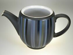 Denby Jet Stripes Teapot No Lid New With Tag Made In England