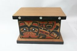 Sampson Robertson Carved And Inlaid Beaver Box 10.5h X 16.5 X 11.5