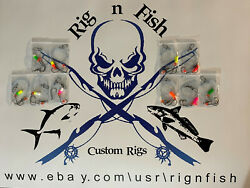 10 - Surf Fishing Rigs For Pompano Whitings Croakers Flounder Snapper Etc