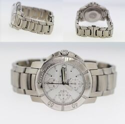 Baume And Mercier Capeland Chronograph Stainless Steel Menand039s 41mm Watch 65366