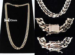 10K Yellow Gold Miami Cuban Link Chain 29 inch335 grams4mm thick