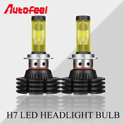 2X H7 LED Headlight Bulbs Conversion Kit Low Beam 1500W Fog Lamps Motorcycle DIY