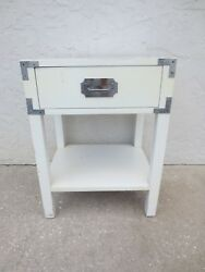 Campaigner Nightstand Bed Table Hollywood Regency Campaign Dixie Palm Beach Whit