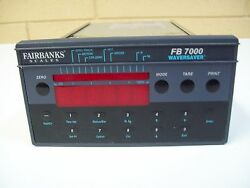 Fairbanks Scale Fb7000 Controller W/ Waversaver - Used - Free Shipping