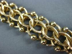 Anitque Wide 14kt Yellow Gold 3d Handcrafted Long Intertwined Bracelet 22595
