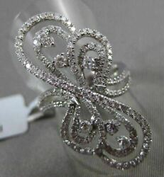 Antique Massive 1.36ct Diamond 18kt White Gold 3d Floating Musical Note Fun Ring