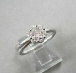 Antique Wide E-f Vvs Flower .62ct Diamond 14kt Gold Ring One Of A Kind