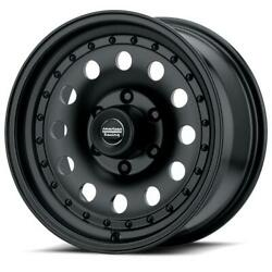 16'' x8 American Racing AR62 Black 5x4.5 0 ET AR626865B Rims Wheels
