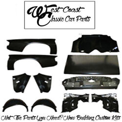 .1978 1981 Camaro Quarter Skins Trunk Lid Floor Tail panel Wheelhouses Kit