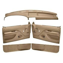 For Ford F-150 92-96 Dash Cover And Door Panels Combo Kit Light Brown Dash Cover