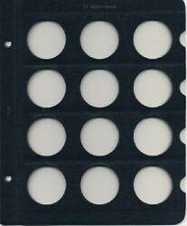 Whitman Album Classic Blank Page 2126 Blue For 37mm Coins/medals 12 Slots New