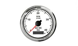 4000 Rpm Tachometer With Digital Engine Hours Magnetic Pick-up