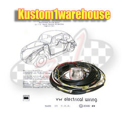 1965 Vw Volkswagen Bug Sedan Complete Wiring Works Harness Wire Kit Made In Usa