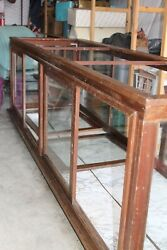 Antique Wood And Glass Mercantile Display Case
