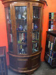 Mid 20th Century Fruit Wood Bookcase 44in. W X 18.5in. D X 78.5in. H