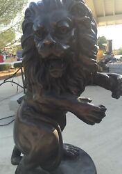 Bronze Metal Life Size Lion 40in 100lbs