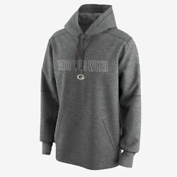Nike Circuit Who You With Hoodie Sweatshirt Nfl Green Bay Packers Gray Men's L