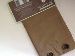 New Jaclyn Love Set Of 2 Gold Bronze Set Of 2 Beautiful Thermal Grommet Curtains