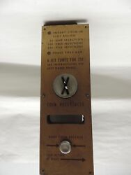 Vintage Mills Constellation Jukebox Dual Entry Coin Receptacle X Style