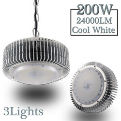 3X 200W LED High Bay Light Warehouse Fixture Factory Industrial Market Shed Lamp
