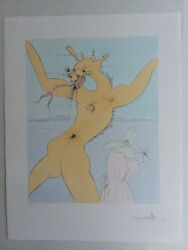 Salvador Dali Drypoint Etching Japanese Fairytale. Price Lowered