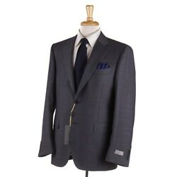 Nwt 2195 Canali 1934 Classic-fit Gray-blue Glen Check Wool Suit 38 R Eu 48