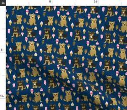 Yorkie Ice Cream Dog Yorkshire Terrier Creams Fabric Printed by Spoonflower BTY